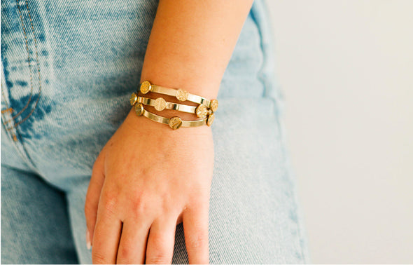 NEW Gold Skinny Stackers