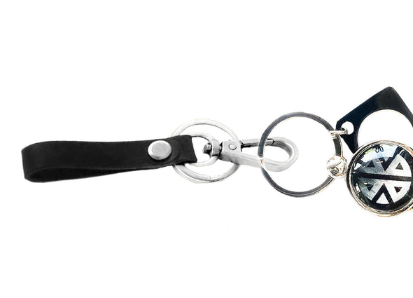 Leather Wristlet Key Fob