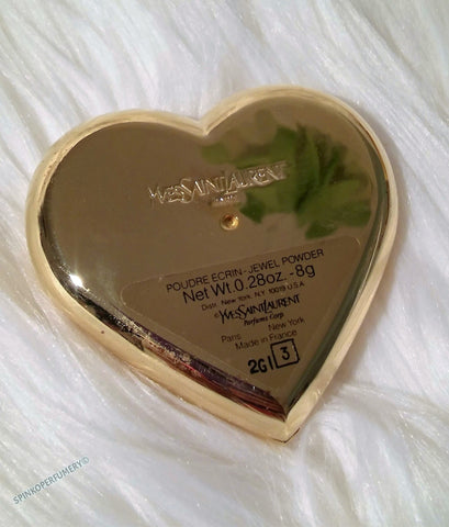 0a4e3b1b77d New Vintage Yves Saint Laurent Poudre Ecrin Fine Gold Plated Jeweled Heart  Compact