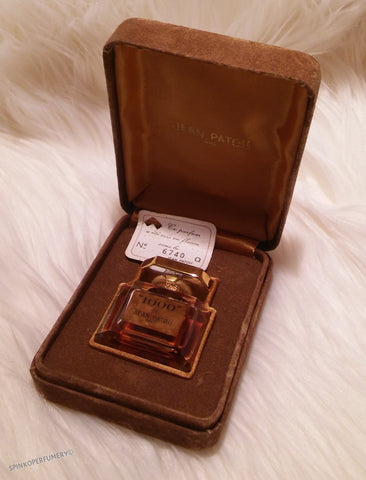 "Vintage 1970's Jean Patou ""1000"" .5 oz Pure Parfum Baccarat Flacon Gold Sealed Perfume 100% Full"