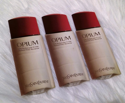 Rare Vintage 90's Yves Saint Laurent Opium Perfumed Body Lotion 10 mL (SET OF 3)