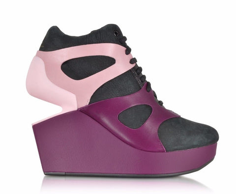 Alexander McQueen x Puma Leap Purple Potion Leather Wedge Sneaker 6 M