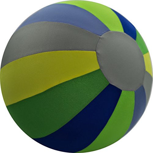 "8"" BRIGHTS Beach Ball Blue/Green/Yellow/Silver"