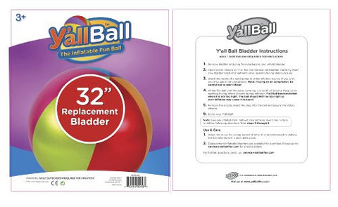 "32"" Y'all Ball Replacement Bladder with Plug"