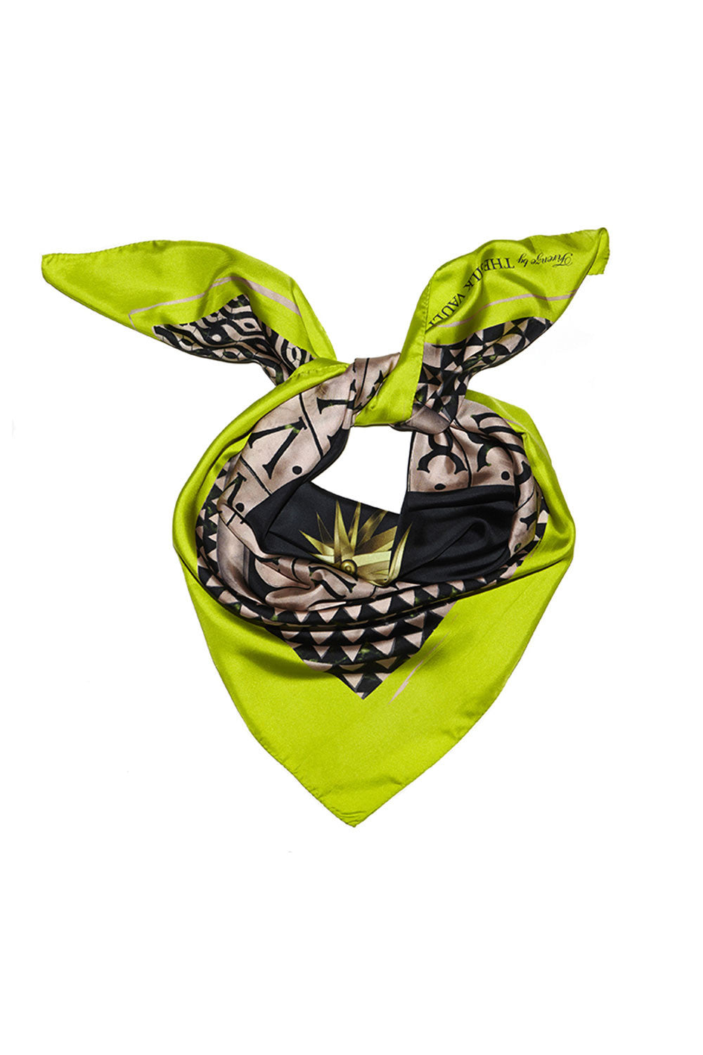 LIME FIRENZE SILK SCARF