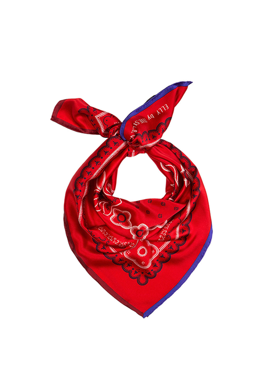 RED ELLY SILK SCARF