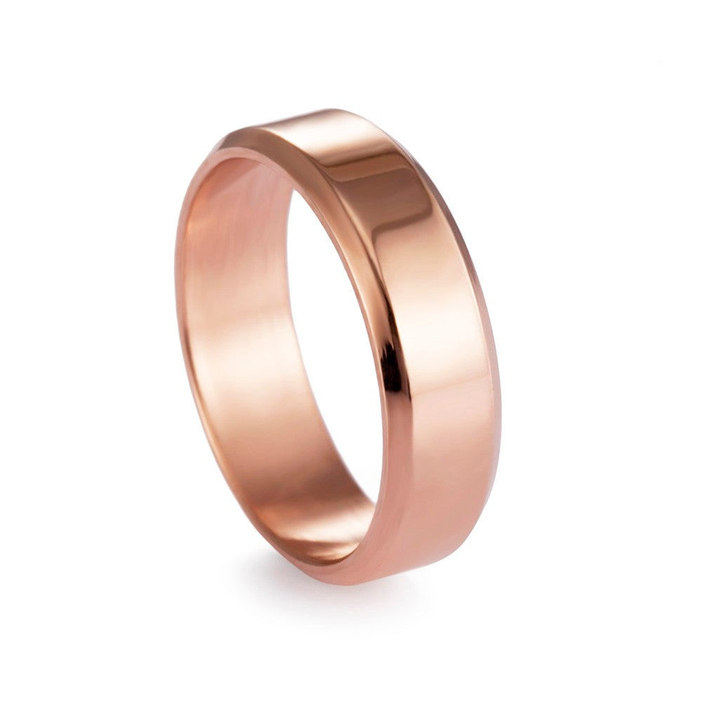 6mm Solid Titanium Wedding Ring