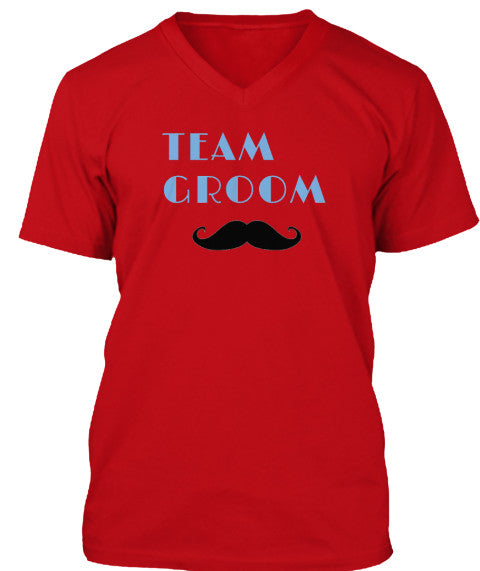 Team Groom V Neck