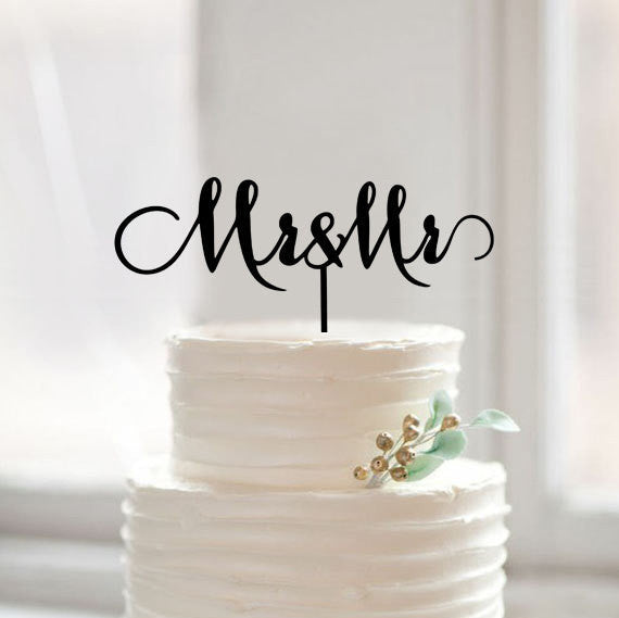 Mr and Mr  Wedding Cake Topper