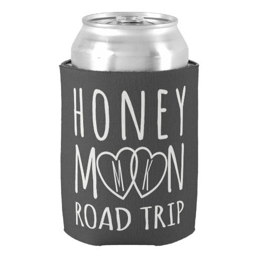 Custom Honeymooon Road Trip Drink Cooler