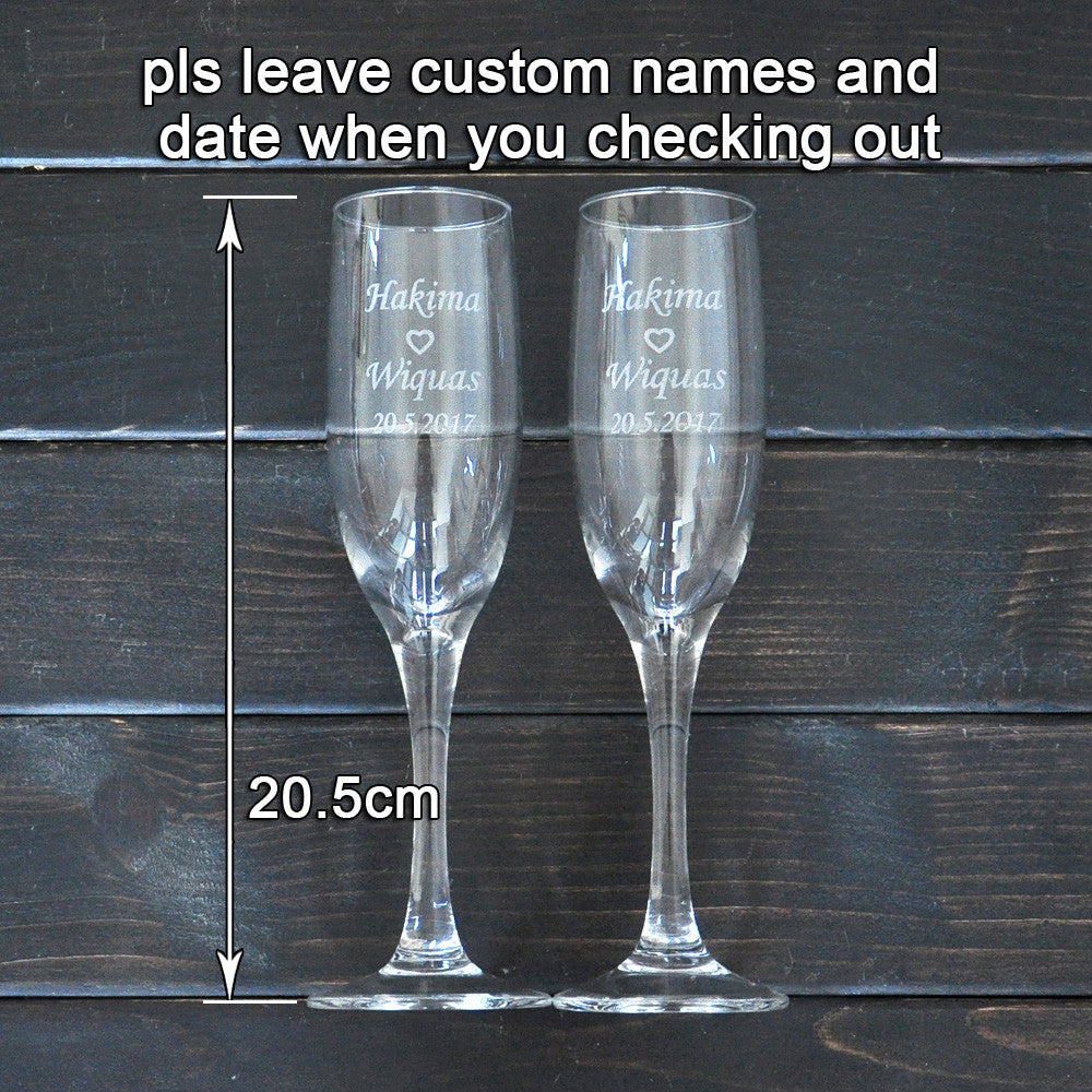 Personalized Toasting Glasses Set of 2