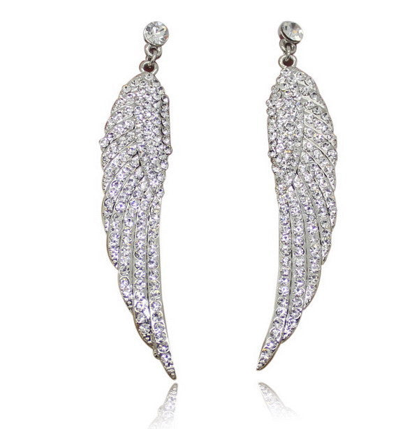 Angel Wing Crystal Earrings - 6 Colors!
