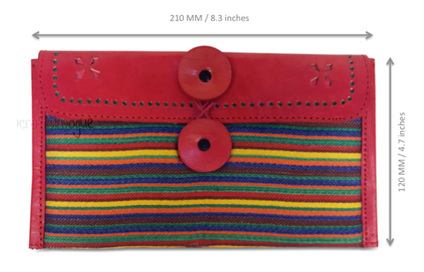 Crafts in Vogue - Colorful Carriers - Red - Narrow Strip Clutch - scale