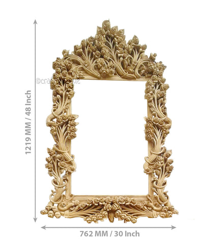 Crafts in Vogue - Bedazzling Adornment - Carved Wooden Wall Photo  Mirror Frame - Scale