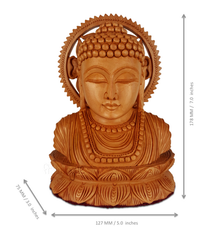 Serenity Revisited_Carved Buddha Bust_Scale