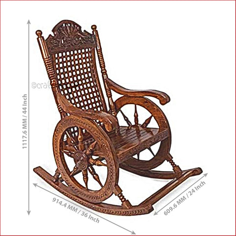 Crafts in Vogue - Swaying With Happiness  - Wooden Rocking Chair - scale