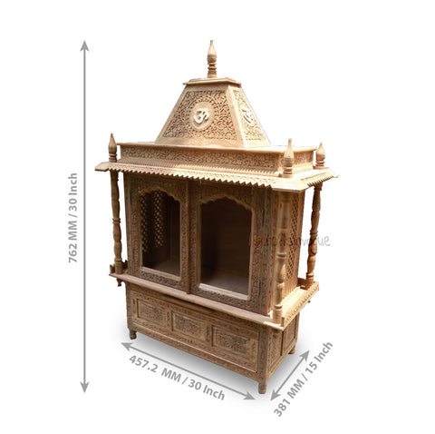 Crafts in Vogue - Divine Powers  - Carved Wooden Temple - scale