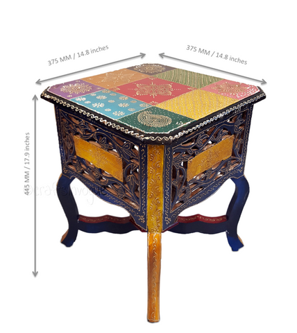 Innate Furnishing - Multicolour embossed Coffee table - Scale