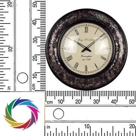 Rummaging Through History – Vintage Glass Wall Clock - scale