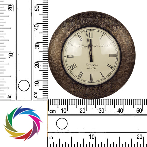 Time-honored Elegance - pattern moulded wall clock - scale