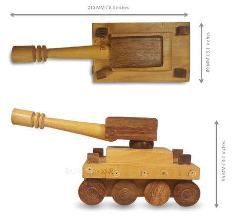 Crafts in Vogue - Spirits of Gladiator - Wooden toy battle tank - scale