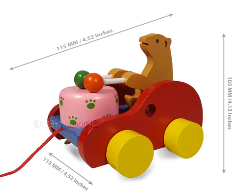 Crafts in Vogue - Carting Your Way - Bear Drummer - scale