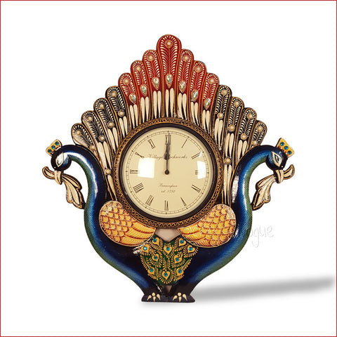 Crafts in Vogue - Classy Duet –  Duel Peacock wall clock