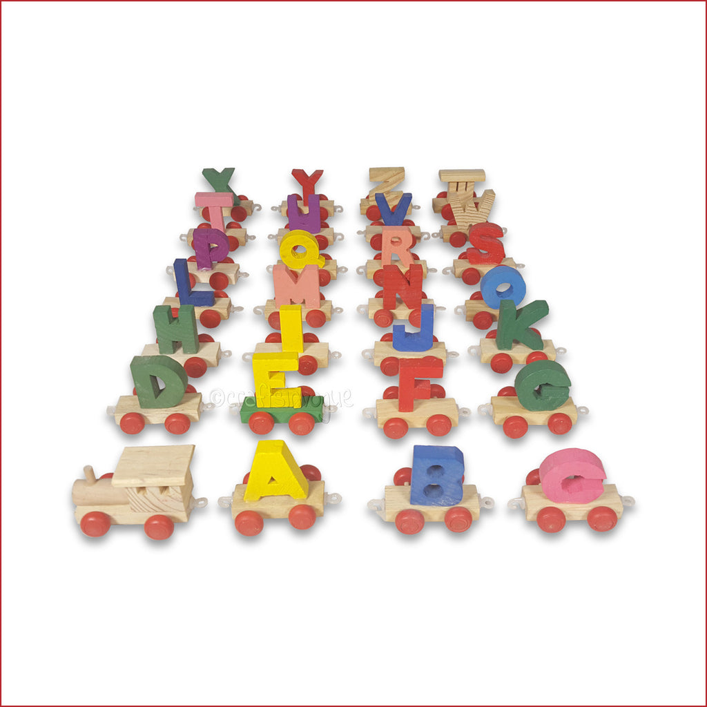 Crafts in Vogue - A-Z wooden Train - Learn the fun way