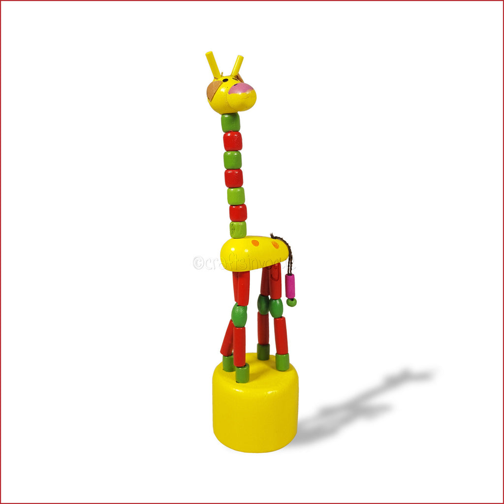 Crafts in Vogue - The frolicking Giraffe - Wooden Toy