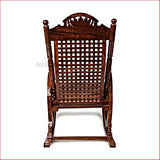 Swaying With Happiness  - Wooden Rocking Chair - back