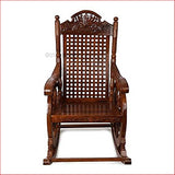 Swaying With Happiness  - Wooden Rocking Chair - Front