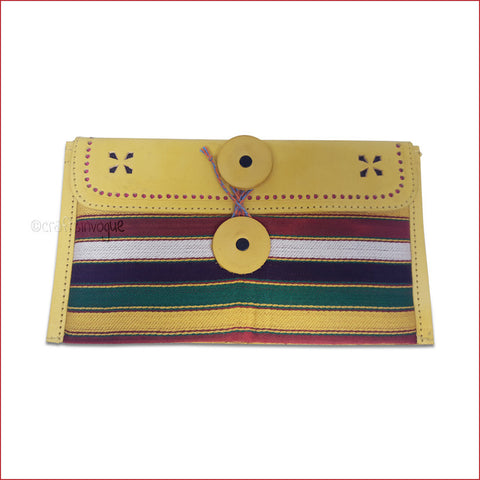Crafts in Vogue - Chromatic Purse - Yellow - Broad Strip