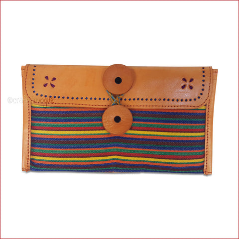 Crafts in Vogue - Colourful Carriers - Orange - Narrow Strip Clutch