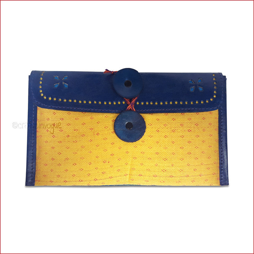 Crafts in Vogue - Enchanting Vibrant Purse - Blue & Yellow