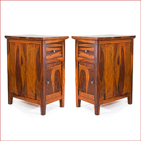 Crafts in Vogue Brilliant Finesse - CANNY - Pair of Teak Side Table