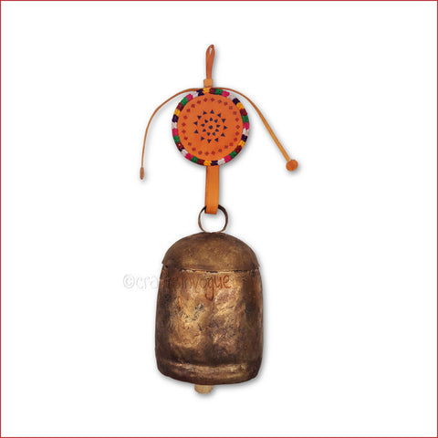 Crafts in Vogue- Serene Chime - Handmade Bell - XXL - Orange