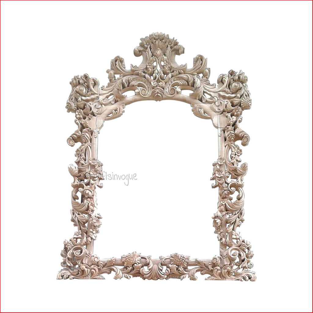 Crafts in Vogue - Noble Furnishing  - Carved Wooden Wall Photo  Mirror Frame