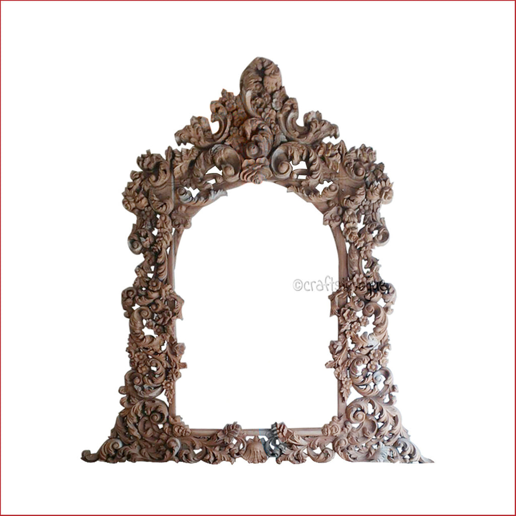 Crafts in Vogue - Majestic Expertise  - Carved Wooden Wall Photo / Mirror Frame