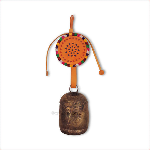 Crafts in Vogue - Serene Chime - Handmade Bell - L - Orange