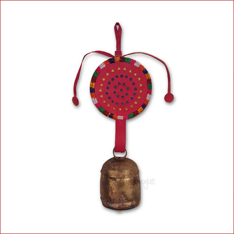 Crafts in Vogue - Serene Chime - Handmade Bell - M - Red