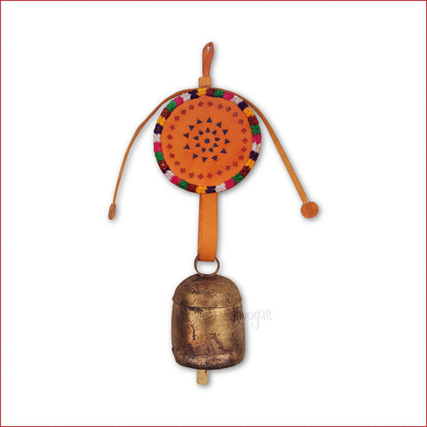 Crafts in Vogue - Serene Chime - Handmade Bell - M - orange