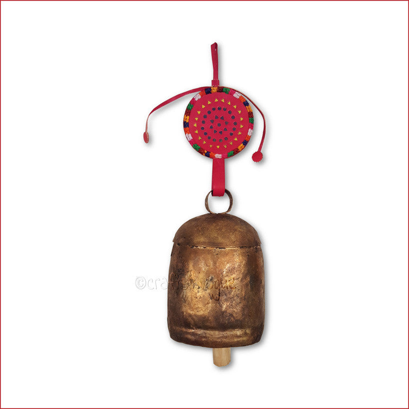 Crafts in Vogue - Serene Chime - Handmade Bell - XXL - Red