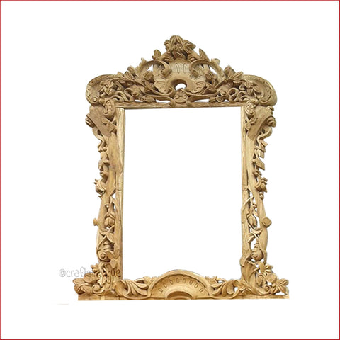 Crafts in Vogue - The Royal Dresser  - Carved Wooden Wall Photo  Mirror Frame