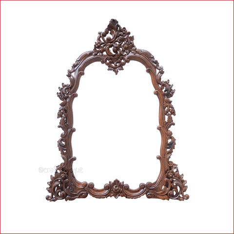 Crafts in Vogue - Vintage Artistry - Carved Wooden Wall Photo  Mirror Frame