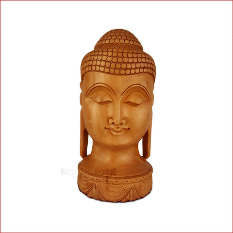 Crafts in Vogue-Touch of Calmness-Carved Buddha Head-Main