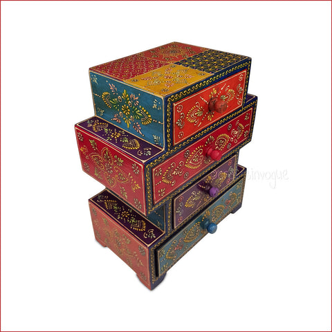 Vibrant book case – Book stack style multicolour Jewellery box - main
