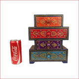Vibrant book case – Book stack style multicolour Jewellery box- reference