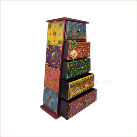 Boxes of Explicitness – Pyramidal tower Jewellery box - Open drawers