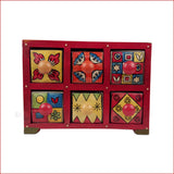 Surreal Variety – Assorted 6 drawer jewellery box - front