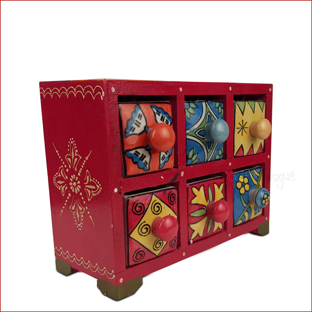 Surreal Variety – Assorted 6 drawer jewellery box - Main